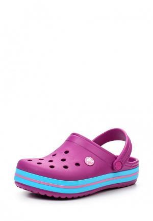 Сабо Crocs. Цвет: фуксия