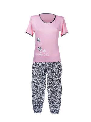 Пижама Nicoletta.. Цвет: розовый, белый, черный