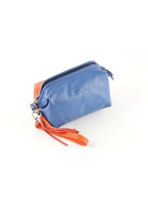 Косметичка TOPO FORTUNATO. Цвет: синий, оранжевый