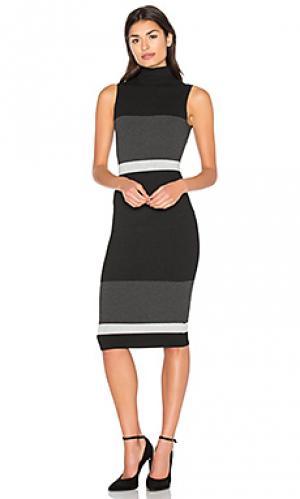 Платье с колорблок bold twenty. Цвет: black & white