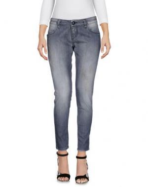 Джинсовые брюки CAROLINA WYSER. Цвет: серый