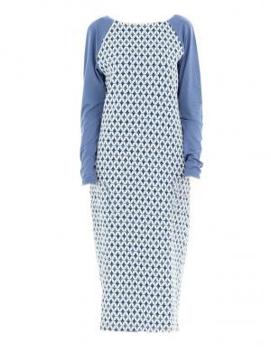 Платье миди с рукавом реглан синее Bella kareema