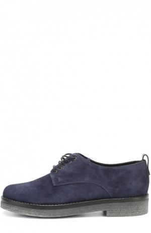 Замшевые ботинки на наборной подошве Baldan. Цвет: синий