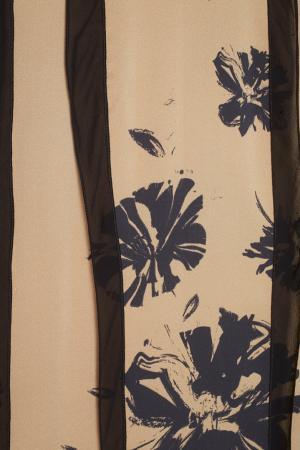 Шелковое платье Chapurin. Цвет: карамельный