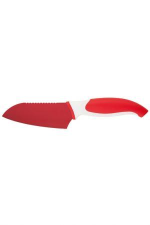 Нож сантоку 4,5'' Granchio. Цвет: красный