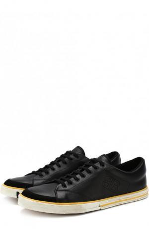 Кожаные кеды Match на шнуровке Balenciaga. Цвет: черный