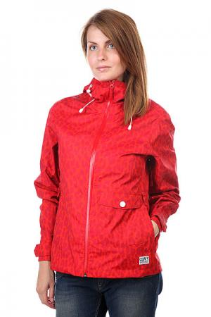 Ветровка женская Gale Jacket Red Leo CLWR. Цвет: красный