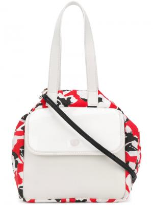 Floral colour-block tote Carmina Campus. Цвет: красный
