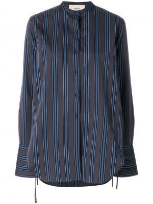 Полосатая приталенная рубашка Ports 1961. Цвет: серый