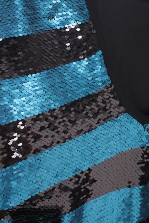 Блузка с пайетками Chapurin. Цвет: черный, бирюзовый