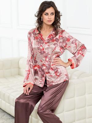 Пижама MIA-AMORE. Цвет: терракотовый