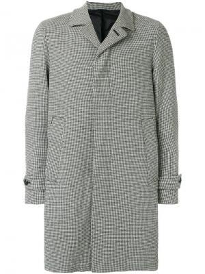 Классическое пальто на пуговицах Hevo. Цвет: чёрный