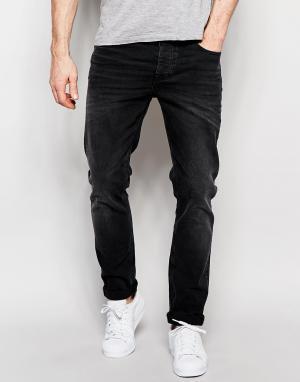 ASOS Черные выбеленные джинсы скинни плотностью 12,5 унции. Цвет: черный