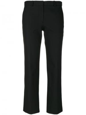 Укороченные брюки строгого кроя Theory. Цвет: чёрный