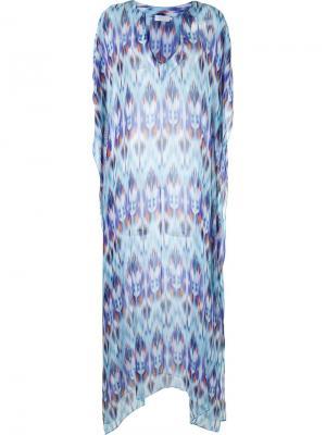 V-neck printed beach dress Brigitte. Цвет: белый