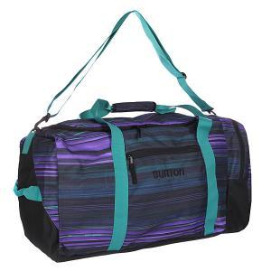 Сумка спортивная  Boothaus Bag Lg 45l High Tide Stripe Burton. Цвет: черный,фиолетовый,зеленый