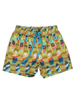 Купальные шорты Sweet Berry. Цвет: морская волна, оранжевый, хаки