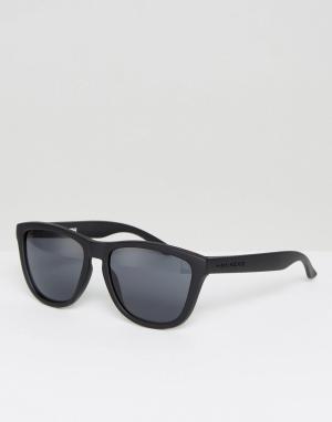 Hawkers Sunglasses Черные поляризационные солнцезащитные очки в квадратной оправе Hawker. Цвет: черный