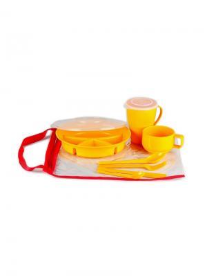 Набор посуды на 1 персону Вахтовый метод жёлтый SOLARIS. Цвет: желтый