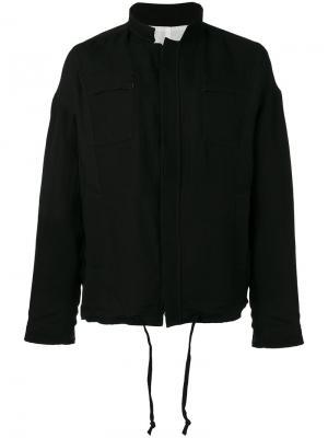 Куртка на молнии Manuel Marte. Цвет: чёрный