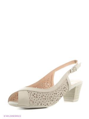 Босоножки на каблуке Caprice. Цвет: белый