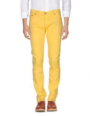 Повседневные брюки NICWAVE. Цвет: желтый