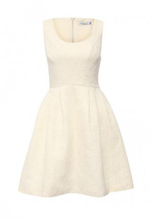 Платье La Coquette. Цвет: бежевый