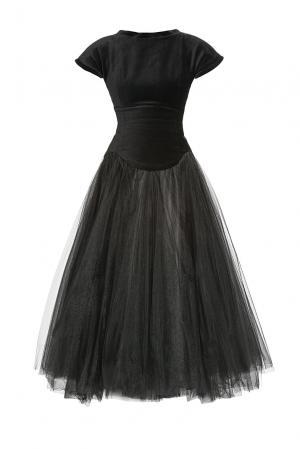 Велюровое платье с подъюбником 182758 Cyrille Gassiline