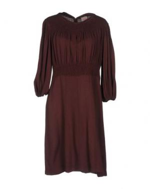Короткое платье NOLITA. Цвет: красно-коричневый