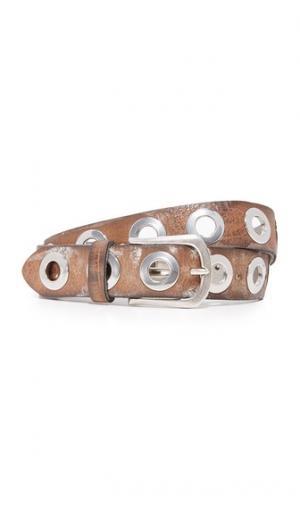 Ремень с крупными серебристыми заклепками в виде колец B. Belt