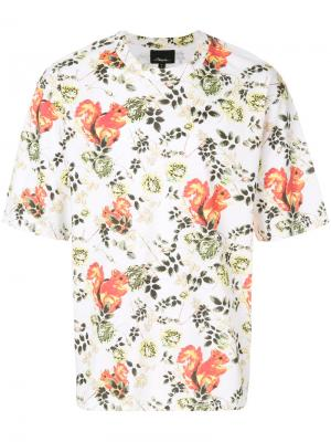 Animal-print souvenir  T-shirt 3.1 Phillip Lim. Цвет: многоцветный