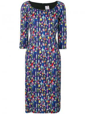 Платье-миди Chimic Ultràchic. Цвет: синий