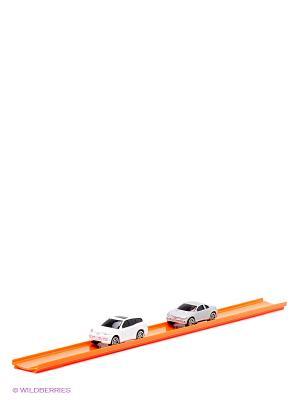 Машинка с треком AUTOTIME. Цвет: белый, серебристый