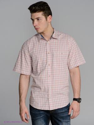Рубашка Westrenger. Цвет: бежевый, светло-серый