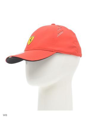 Бейсболка Ferrari Fanwear force SF cap Puma. Цвет: красный