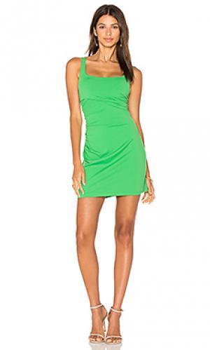Платье на шлейках со сборками 17 Susana Monaco. Цвет: зеленый