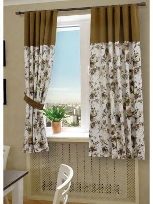 Комплект штор SANPA HOME COLLECTION. Цвет: коричневый
