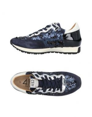 Низкие кеды и кроссовки QUATTROBARRADODICI. Цвет: темно-синий