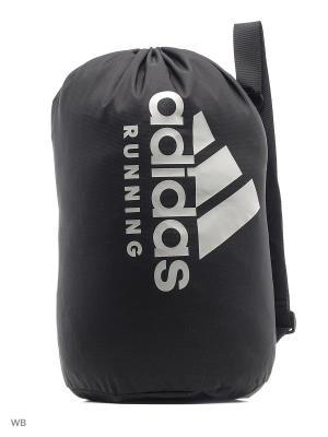 Сумка RUN BAG BLACK/CLONIX/CLONIX Adidas. Цвет: черный, белый