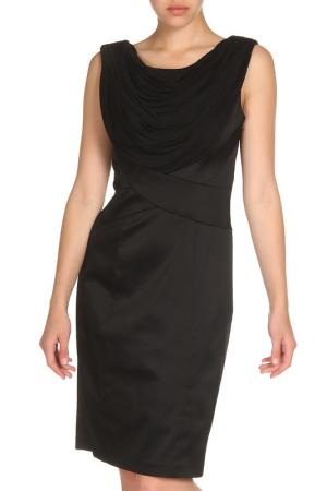 Элегантное платье с объемным воротом Apanage. Цвет: черный