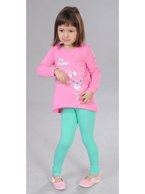 Комплект одежды Милашка Сьюзи. Цвет: зеленый, розовый