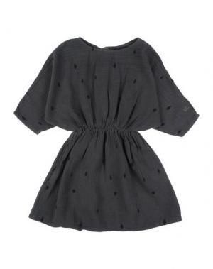 Платье BOBO CHOSES. Цвет: свинцово-серый
