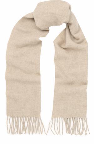 Кашемировый шарф с бахромой Cortigiani. Цвет: бежевый