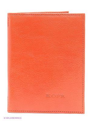 Обложка для водительского удостоверения Kofr. Цвет: оранжевый, красный