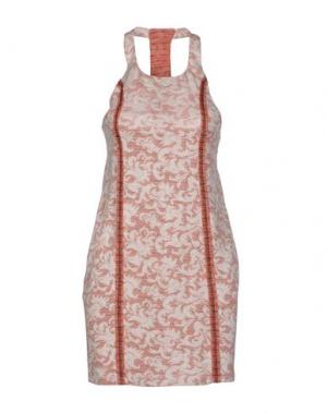 Короткое платье NELL&ME. Цвет: оранжевый