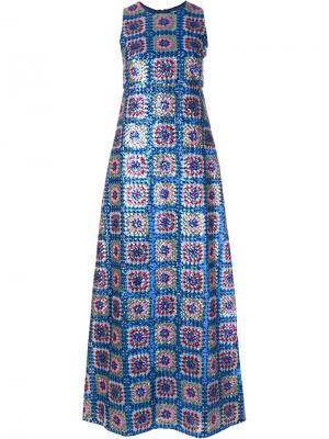Декорированное платье Manoush. Цвет: синий