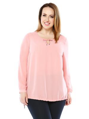 Блузка Лала Стайл. Цвет: розовый