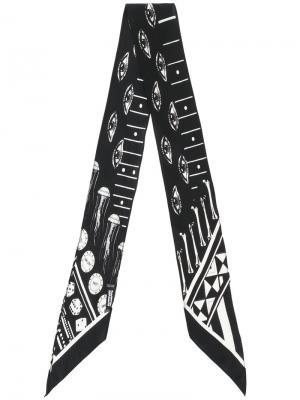 Eye print scarf Rockins. Цвет: чёрный