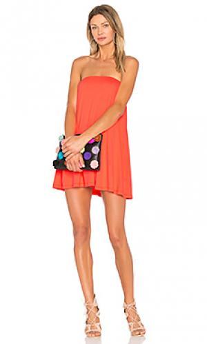 Драпированное платье-туника Susana Monaco. Цвет: красный