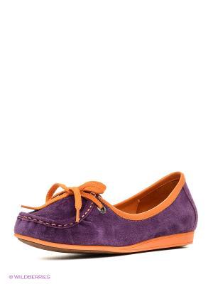 Мокасины El Tempo. Цвет: фиолетовый
